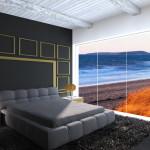 Interior Design di Camera matrimoniale con vista