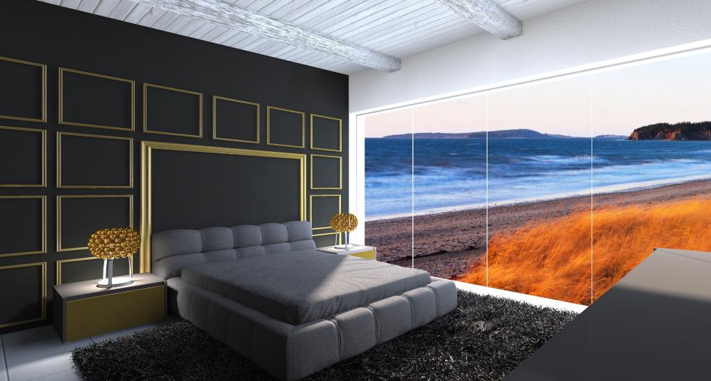 soggiorno moderno con colori chiari zona living con grafica new