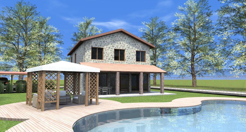 Progetto Casa: Rustico con Piscina