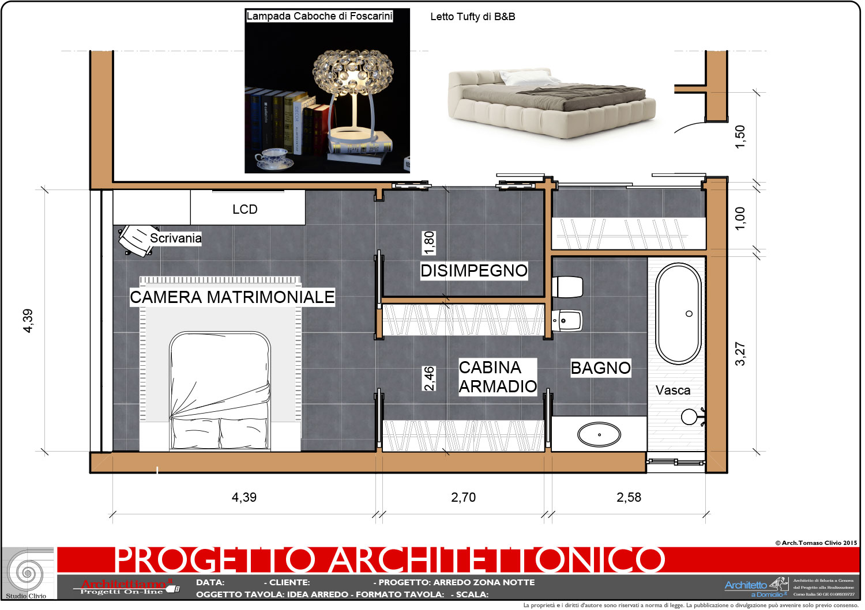 Progetto 2d arredamento for Piani casa 3 camere da letto e garage doppio