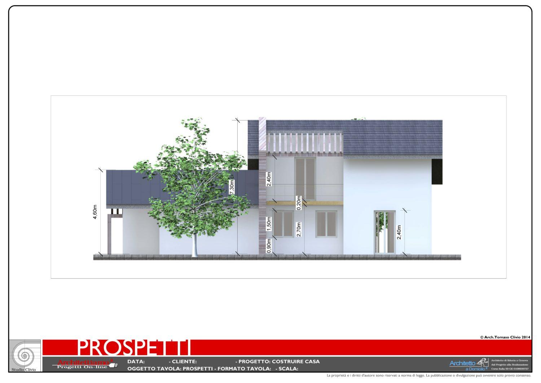 Esempi di disegni e progetti di costruzione for Prospetti di villette