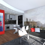 Interior Design di Zona Open Space Stile Londinese