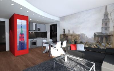 Zona Open Space Stile Londinese