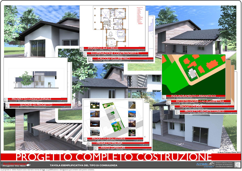 Progetto completo costruzione for Costo per costruire piani di casa