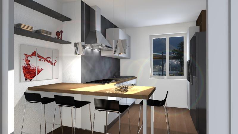 Esempi di render fotorealistici interni di progetto 3d di for Cucina soggiorno 15 mq