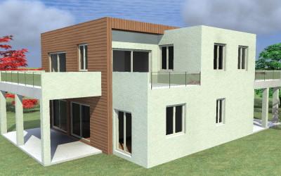 Casa Moderna cubica bicolore