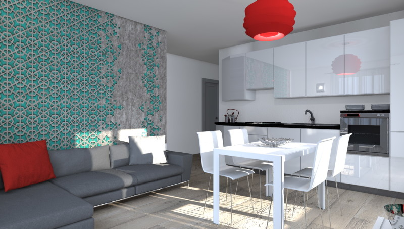 Esempi di progetti 3d di arredare architettiamo progetti for Arredare zona living