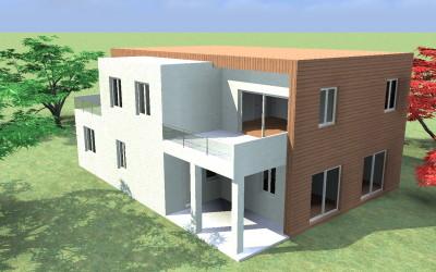 Casa Moderna Bicolore con ampi terrazzi