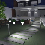 Progetto Casa: Casa Moderna a due piani con vialetto d'ingresso