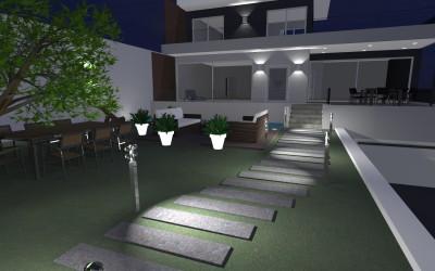 Casa Moderna a due piani con vialetto d'ingresso