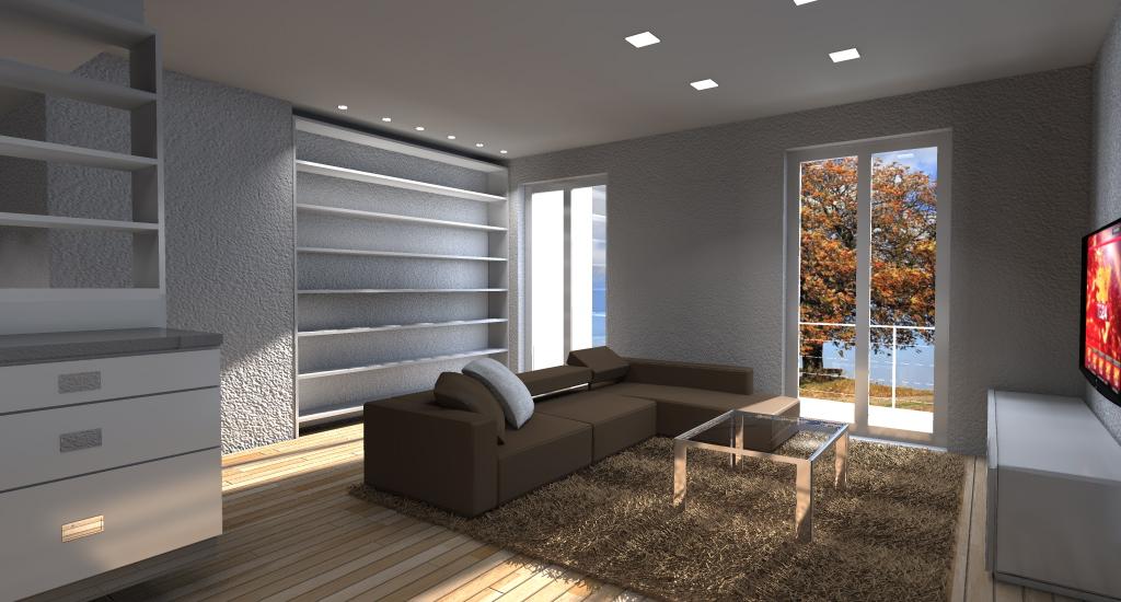 Esempi di render fotorealistici interni di progetto 3d di for Progetto arredo casa on line