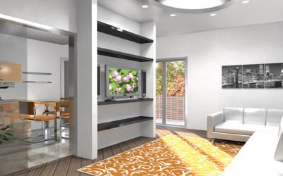 Zona Living con Parete attrezzata moderna