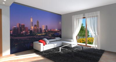 Zona Living con grafica New York