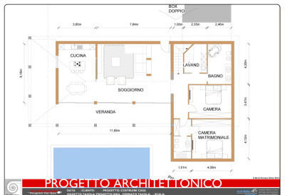 Esempio di progetto di villa con piscina sull 39 adriatico for Piani di costruzione casa moderna