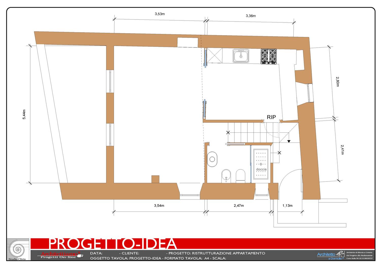 Progetto 2d ristrutturazione for Arredamento 3d online