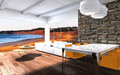 Zona Living Moderna con Vista Mare
