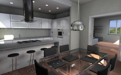 Cucina Moderna con sgabeli