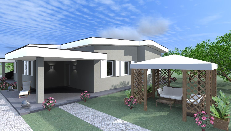 Esempi di progetti 3d di costruzione progetti online - Casa legno moderna ...