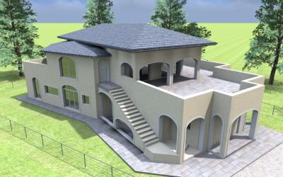 Villa a due piani con Porticato ad archi
