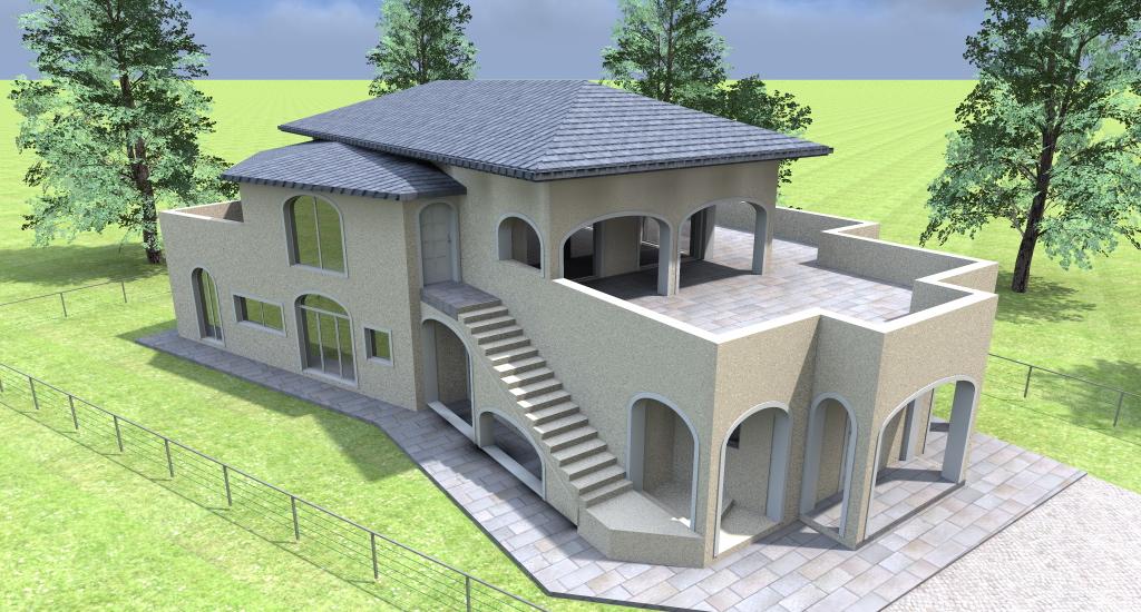 Architetto online progetti costruzione ristrutturazione e for Progetti ville a due piani