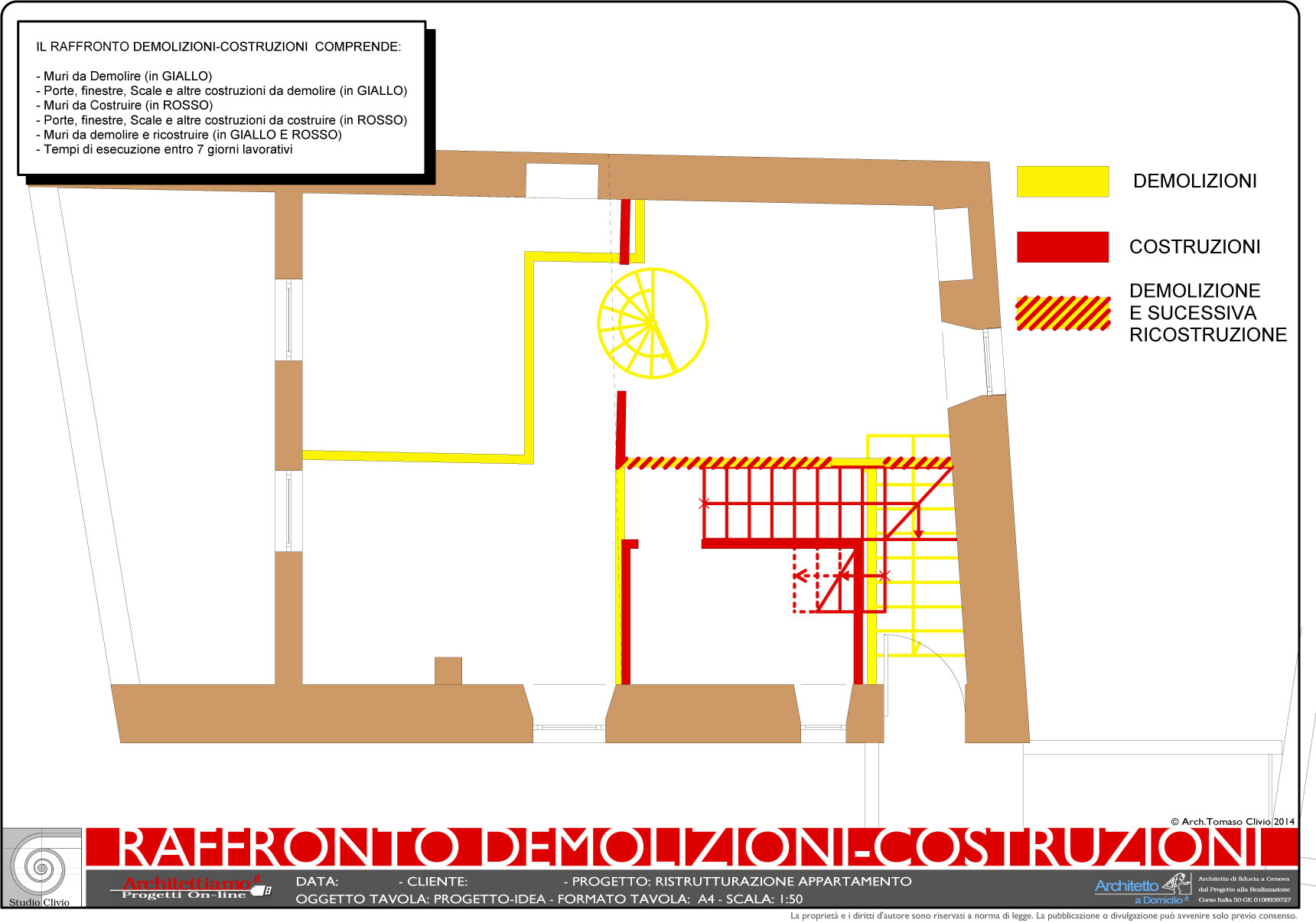 Esempi di disegni e progetti di ristrutturazione for Progettazione online