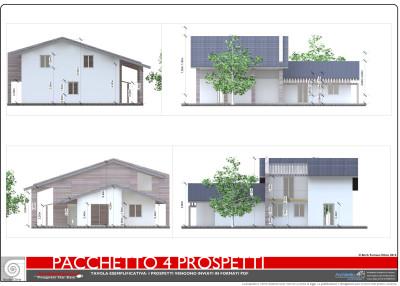 Sezioni prospetti costruire casa archivi architettiamo for Esempi progetti ville
