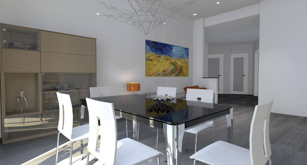 Esempi di progetti 3d di ristrutturazione architettiamo for Living con camino