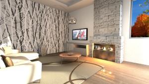 Interior Design: Soggiorno con camino