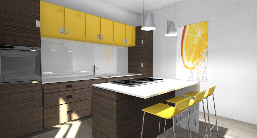 Parete Gialla Cucina : Cucina gialla