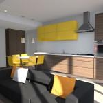Cucina e soggiorno in open space