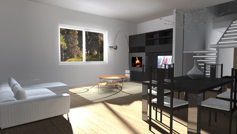 Esempi di render fotorealistici interni di progetto 3d di for Arredare 3d
