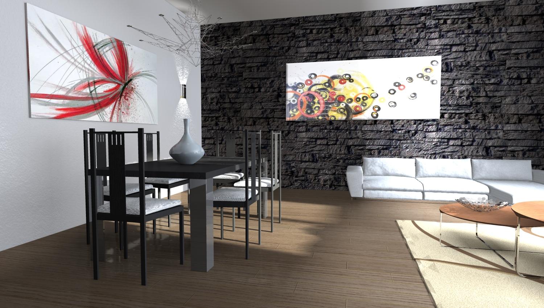 Esempi di progetti 3d di ristrutturazione architettiamo for Parete pietra