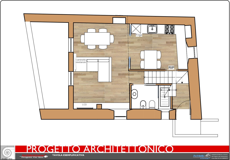 Esempi di disegni e progetti di ristrutturazione for Progetti contemporanei di case a pianta aperta