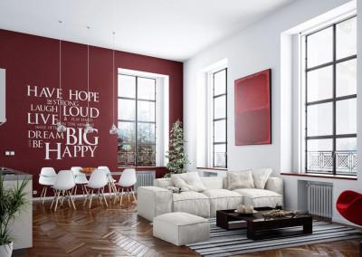 Ristrutturare casa online sei alla ricerca di idee for Parete rossa soggiorno