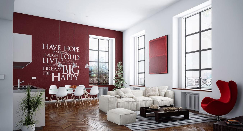 Ristrutturare casa online ristruttura con noi la tua casa for Parete rossa soggiorno