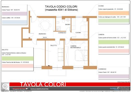 Studio colori appartamento