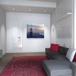 Interior Design di Studio moderno con mobile a ponte