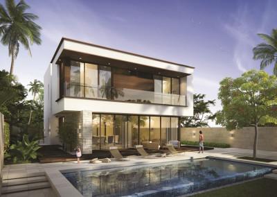 Villa moderna grandi vetrate