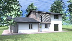 Rendering Esterno per costruzione Villa