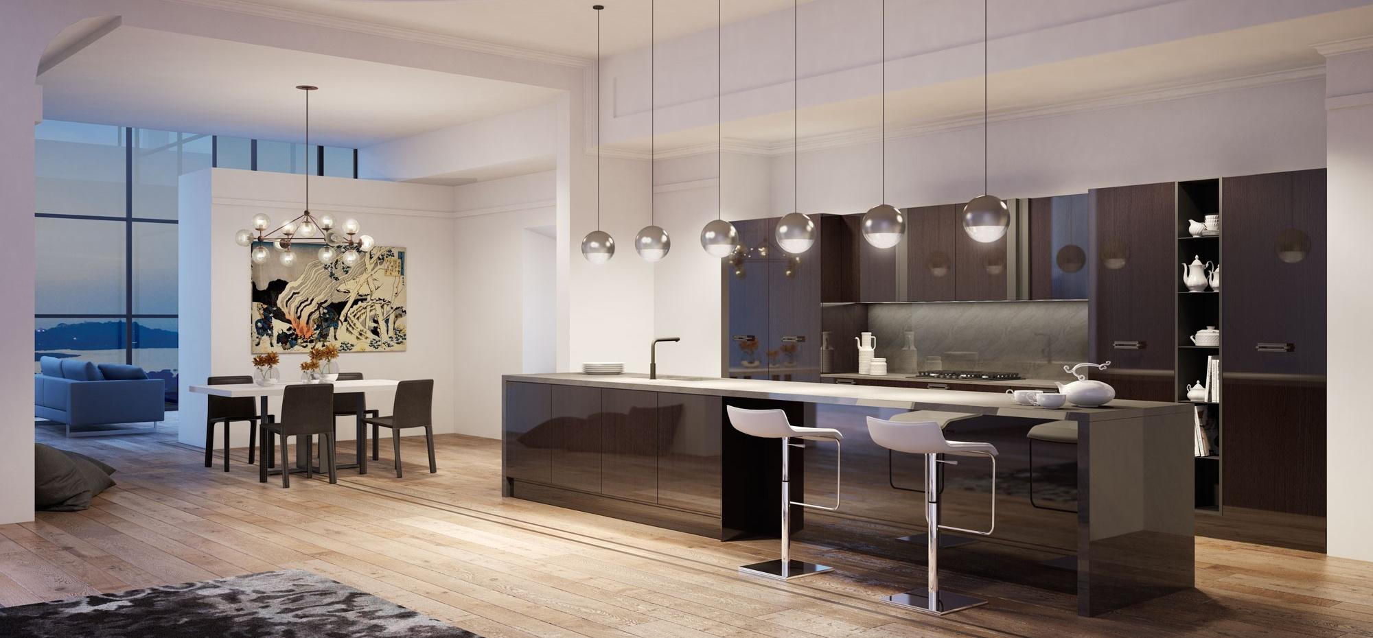 Cucina In Stile Moderno Isola Legno : Ispirazioni di cucine soggiorni e altri ambienti interni