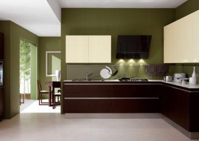 Cucina-Moderna-Mogano scuro