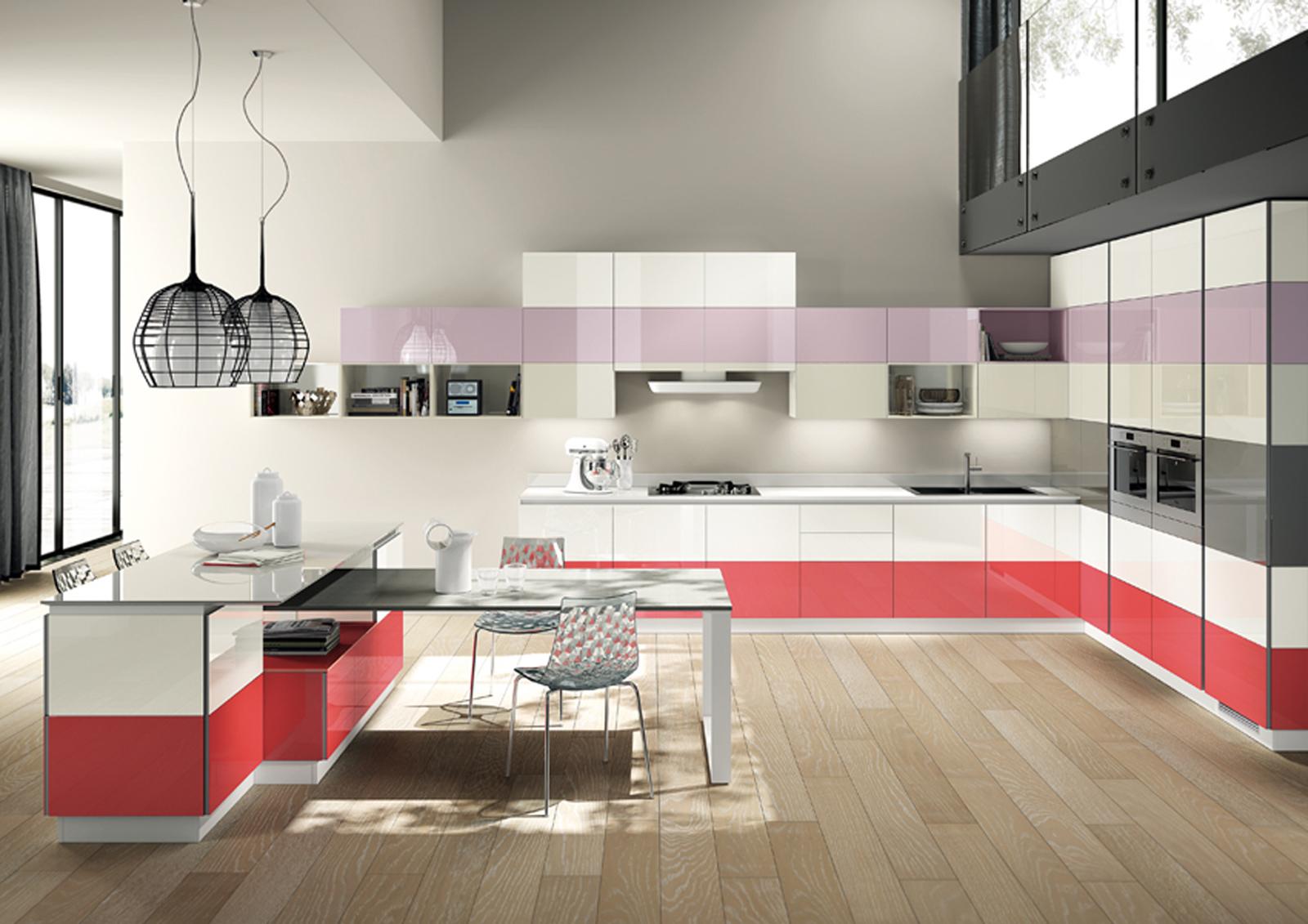 Ispirazioni di cucine soggiorni e altri ambienti interni architettiamo progetti online - Cucine moderne colorate ...