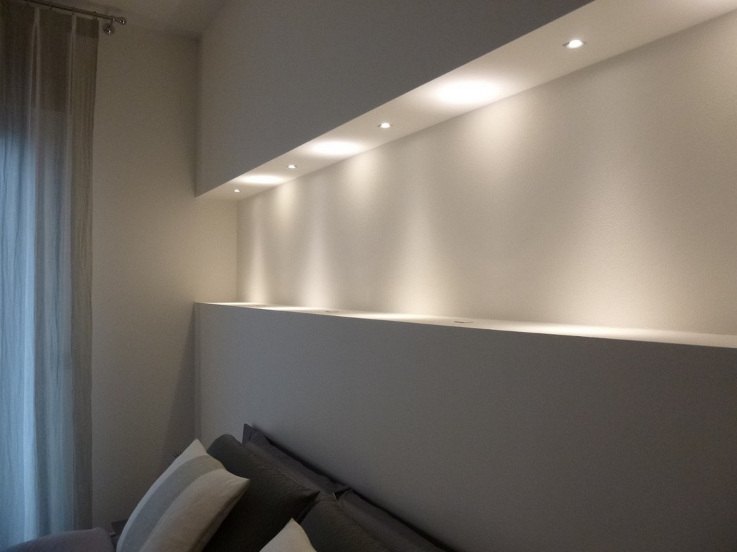 In cartongesso con led finest velette in cartongesso with in