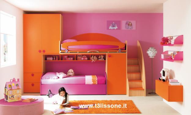 Ispirazioni di cucine soggiorni e altri ambienti interni for Arredamento cameretta bambina