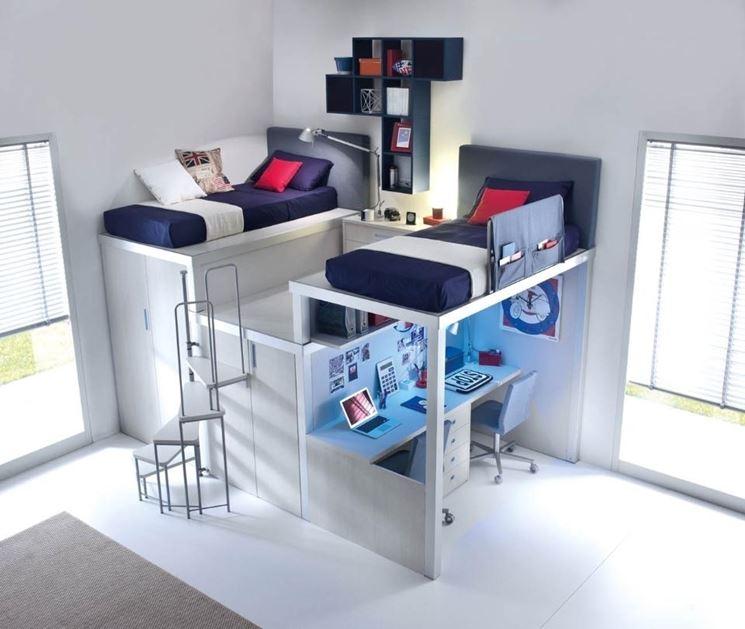 Ispirazioni di cucine soggiorni e altri ambienti interni - Ikea camerette a soppalco ...