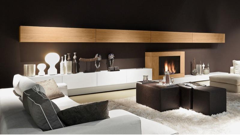 Awesome Soggiorni Moderni Con Camino Gallery - Amazing House Design ...