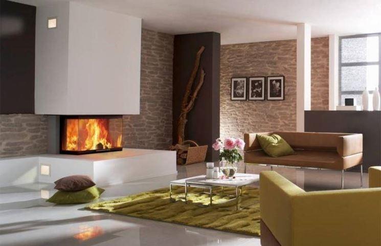 Emejing Soggiorno Con Camino Moderno Ideas - Design Trends 2017 ...