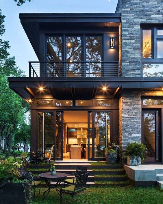 Modern Or Rustic Front Landscape Design: Immagini D'ispirazione Di Ville, Case E Rustici Di Tutto