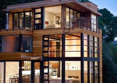 casa moderna in legno