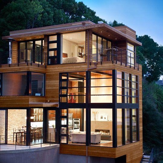 Immagini d 39 ispirazione di ville case e rustici di tutto for Casa moderna legno